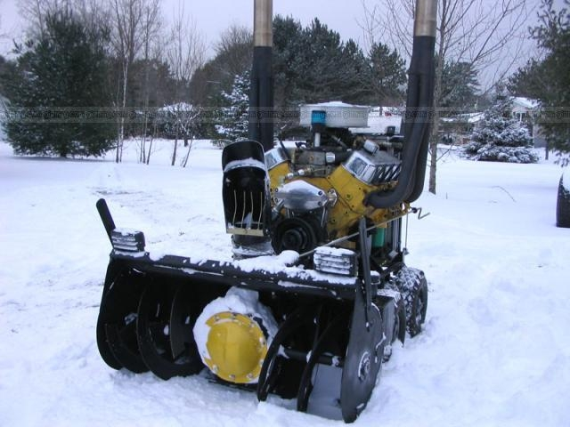 Powerful snow thrower